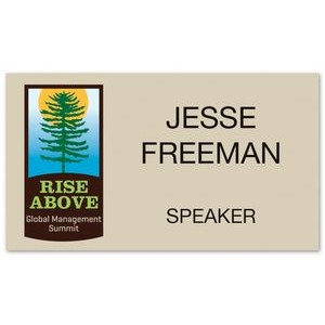 Deluxe Name Badge Custom UV Inkjet & Engraved (6-10 Square Inches)